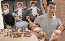 John Hùng Trần và hành trình làm cha tuyệt diệu: Tính đẻ một nhưng vợ sinh ba, bây giờ làm gì cũng không vui bằng chơi với con