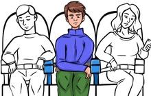 Tay vịn giữa ghế thuộc về ai? Có bị lọt xuống bồn cầu trên máy bay? - Loạt câu hỏi cho thấy đi máy bay thật lắm quy tắc!