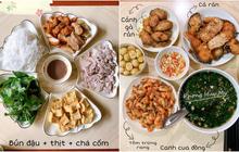 Ở Anh vẫn nấu được mâm cơm Việt đủ cà pháo, canh cua rau đay đến bún đậu mắm tôm: Quá tài!