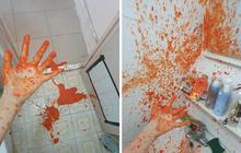 """Hí hửng mua được lọ tương ớt đặc sản ở Sa Pa về, cô gái không ngờ vì tạo ra """"vụ nổ"""" như hiện trường... án mạng"""