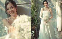 Thuý Vân đẹp nền nã, diện váy cưới đầy sang trọng: Nhìn nụ cười là biết đang hạnh phúc thế nào!