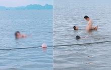 Hình ảnh cặp đôi tạo dáng với tư thế phản cảm khi đi tắm biển khiến nhiều người nóng mắt