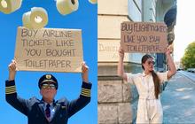 """Bức ảnh phi công cầm biển """"Hãy mua vé máy bay như bạn mua giấy vệ sinh"""": đằng sau sự ví von hài hước là nỗi buồn của hàng triệu người"""