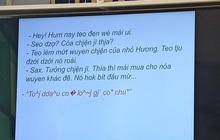 Té ngửa cảnh cô giáo bắt học trò dịch tiếng Việt ra tiếng Việt, dân mạng xem thôi cũng thấy rối não