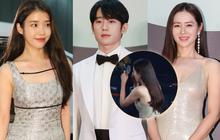"""3 khoảnh khắc hot nhất Baeksang 2020: Son Ye Jin """"bận"""" kẻ chân mày nên ngó lơ Jung Hae In, IU """"chung mâm"""" đàn chị đình đám"""