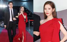 """Couple Seohyun và tài tử """"Reply 1988"""" thành yếu tố bùng nổ bất ngờ trên thảm đỏ Baeksang, nhưng mặt em út SNSD sao thế này?"""