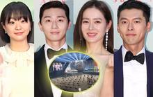"""Nhìn dãy ghế xa nghìn trùng dương Baeksang 2020 mà rớt nước mắt: Thế này thì sao Hyun Bin và Son Ye Jin """"chim chuột"""" đây?"""
