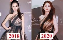 """Tỏa sáng như nữ thần tại Baeksang 2020 nhưng ai ngờ """"tiểu tam hot nhất màn ảnh Hàn"""" diện lại váy cũ Angela Baby từng mặc từ 2 năm trước"""