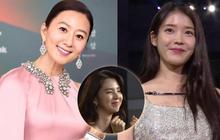 """Khoảnh khắc IU rưng rưng, """"tiểu tam"""" mỹ nhân phấn khích cực độ khi bà cả Kim Hee Ae ẵm giải: """"fangirl"""" Thế Giới Hôn Nhân chính là đây!"""