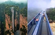 """Lại thêm một công trình Trung Quốc khiến dân mạng """"há hốc mồm"""" vì quá độc lạ: Thang cuốn dẫn lên """"thiên đường"""" là đây ư?"""