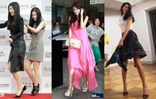Hội idol Hàn cao mét bảy vẫn lăng xê giày cao gót nhiệt tình, ai đứng kế bên chắc bất an lắm!
