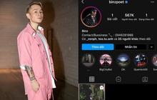 Instagram của Binz bỗng dưng trống hoắc, chỉ còn duy nhất bài post được cho là viết về chuyện tình với Châu Bùi