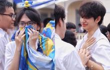 Học sinh Chuyên Lê Hồng Phong khóc nức nở ngày bế giảng: Cám ơn vì đã ở bên nhau!