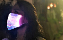 Phong cách độc đáo thời Covid: Khẩu trang phát sáng với đèn LED