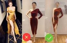 Đến Ngọc Trinh mà không áp dụng thủ thuật tạo dáng thì điểm sexy cũng vơi đi phân nửa khi diện váy xẻ