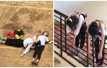 """Bộ ảnh """"thi xong rồi"""" của đôi bạn thân gây bão mạng vì pose dáng lầy lội khó ai sánh bằng"""