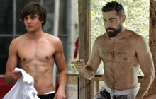 """Khó mà nhận ra """"hot boy bóng rổ"""" một thời Zac Efron với hình tượng râu ria xồm xoàm trên show mới!"""