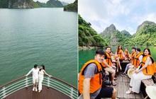 """""""Mẹ bầu"""" Đông Nhi dẫn cả gia đình đi du lịch vịnh Lan Hạ, tự tin thả dáng check-in trên du thuyền 5 sao cùng Ông Cao Thắng"""