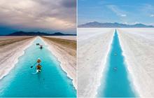 """Địa điểm nơi Vũ Khắc Tiệp """"mượn ảnh"""" để đăng lên Instagram: Hồ muối """"ảo diệu"""" nhất nước Mỹ, khách du lịch check-in nườm nượp"""