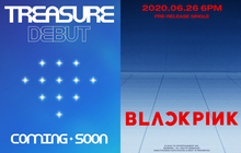 """Poster debut nhóm mới của YG na ná BLACKPINK theo phong cách... chẳng hiểu kiểu gì, ghi """"coming soon"""" nhưng khi nào thì chưa biết!"""