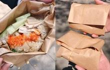 """Quán ăn hút khách nhờ ý tưởng gói cơm bằng giấy cực lạ, vừa thân thiện với môi trường lại khiến hội thích """"sống ảo"""" phát cuồng vì lên ảnh đẹp khỏi chê"""