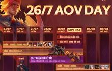 Nóng: Garena chơi lớn tặng 3 skin + 1 tướng trong sự kiện AOV Day, game thủ không thể bỏ lỡ!