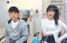 Nữ streamer xinh đẹp xứ Hàn mặc áo bó sát rồi để lộ chi tiết nhạy cảm ngay trên sóng