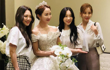"""Hậu trường SNSD đi đám cưới: Nhan sắc Taeyeon và em út Seohyun không hot bằng mái tóc """"lột xác"""" của Hyoyeon sau 10 năm"""