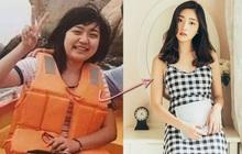 """Màn lột xác ngoạn mục của gái xinh xứ Trung: giảm 10kg trong 1 năm, biến thành """"nữ thần"""" được cả trường để ý"""