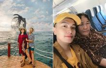 """Trai đẹp Người Ấy Là Ai """"gây bão"""" với khoảnh khắc dẫn mẹ đi du lịch Phú Quốc, nữ chính Hà An đùa vui: Sao mẹ không cho con đi chung?"""