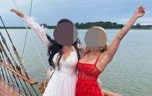 Mặc váy đỏ sexy chiếm hết cả spotlight của cô dâu khi dự đám cưới, nữ khách mời bị cư dân mạng chỉ trích kịch liệt