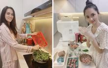 """Luôn tự nhận là """"nữ hoàng hậu đậu"""" nhưng nhìn những lần Hương Giang vào bếp cũng ra dáng đảm đang lắm nhé!"""