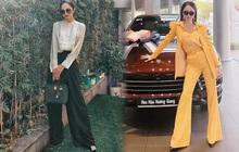 """Hương Giang có 2 combo quần + giày dép hack dáng """"bất bại"""", nàng nào diện lên chân cũng """"dài tới nách"""""""