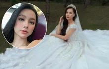 Sau 4 tháng lộ ảnh tình tứ với trai lạ ở sân bay, MC Minh Hà bất ngờ khoe ảnh mặc váy cưới