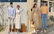 """4 chiêu diện đồ đôi xịn mê couple Hàn mách nước cho bạn, ai đang """"ế"""" cũng nên xem qua vì sau này dễ sẽ cần đến"""