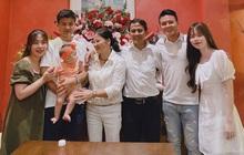 """Quang Hải rạng ngời kế bên Huỳnh Anh khi chụp """"ảnh gia đình"""", đảm đang vào bếp trong ngày sinh nhật chị dâu"""