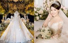 Trước khi bị phụ bạc, Âu Hà My từng hóa công chúa trong đám cưới cổ tích với 3 bộ váy cưới đính kim cương giá 1 tỉ đồng
