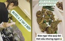 """Sao nữ đảm đang nhất tuần gọi tên Minh Hằng: Tự tay làm 3 món chuẩn nhà hàng, bất ngờ hơn là đĩa bào ngư """"hơi xấu nhưng ngon"""""""