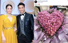 """Vừa chúc mừng sinh nhật Nhật Kim Anh, TiTi đã khoe đoá hoa to và lời ngọt ngào """"Yêu em"""": Cùng cho một người hay sao đây?"""