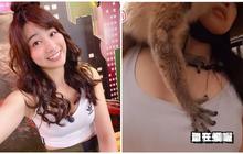"""Đi sở thú làm vlog, cô nàng YouTuber bất ngờ bị vượn """"sàm sỡ"""" ngay trên sóng"""