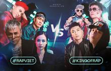 """Rap Việt và King Of Rap đối đầu gay gắt ngay từ dàn HLV, hội tụ những nhân vật """"máu mặt"""" nhất của cộng đồng Hiphop tại Việt Nam"""