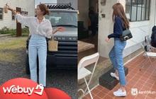 Nếu chỉ sắm 1 kiểu quần jeans, hãy chọn jeans ống đứng: Che nhược điểm đôi chân, mix với áo nào cũng đẹp mà giá chưa đến 200k