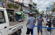Hình ảnh phong tỏa đường Hồ Văn Đại ở TP Biên Hòa lúc 12 giờ trưa nay