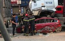 Tài xế container đâm bẹp dúm ô tô con khiến 3 người tử vong ở Hà Nội đã ra đầu thú, khai do buồn ngủ