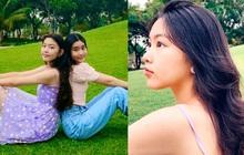 """Bất chấp mẹ chụp cam thường, 2 tiểu thư nhà MC Quyền Linh vẫn đẹp """"điên đảo"""": Bảo sao bị hối đi thi Hoa hậu ngay và luôn!"""