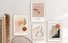 Muốn căn phòng của mình xịn sò như ảnh trên Pinterest, hội mê decor nhất định phải sắm một bộ tranh treo tường
