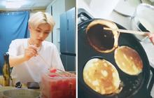 Nam idol Hàn Quốc có niềm đam mê làm bánh khi livestream, mỗi lần quay là một lần fan cười xỉu