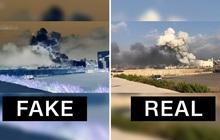 """Video cho thấy có tên lửa bay tới trước vụ nổ kinh hoàng tại Lebanon đang khiến dân mạng hoang mang: Tất cả đều là """"fake"""""""