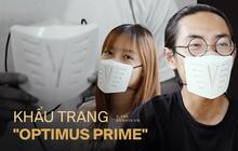 """Khẩu trang NanoFit với kiểu dáng """"Optimus Prime"""" có thật sự đáng mua?"""