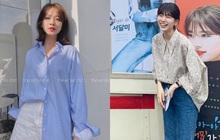 Cùng 1 chiếc áo oversize, Suzy bày cho các nàng 2 chiêu ăn diện xinh xẻo, ai cũng áp dụng được